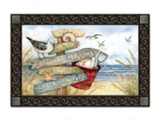 To The Beach Doormat | Doormats | MatMates | Decorative Doormats