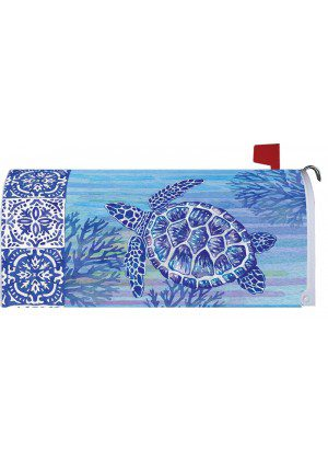 Turtles & Tiles Mailbox Cover | Mailbox Covers | Mailbox Wraps | Mailwrap