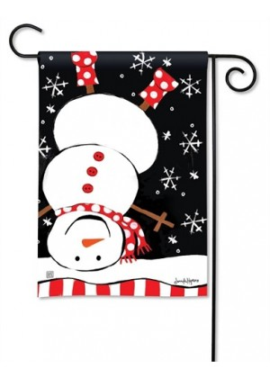 Upside Down Snowman Garden Flag | Snowman Flags | Winter Flags