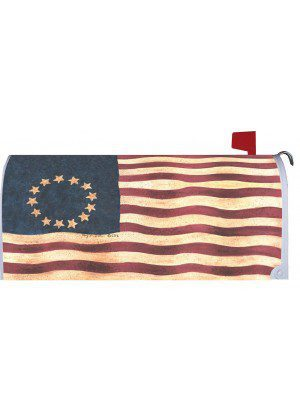 Wavy Betsy Ross Mailbox Cover | Mailbox Covers | Mailbox Wraps