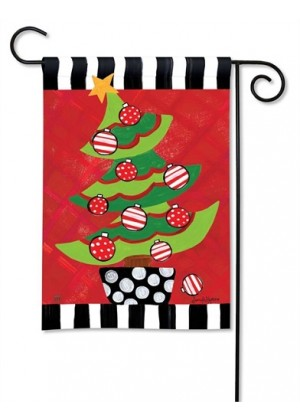 Whimsy Tree Garden Flag | Christmas Flags | Winter Flags | Garden Flags