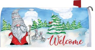 Winter Gnome Mailbox Cover | Mailbox Covers | Mailwrap | Mail Box Cover