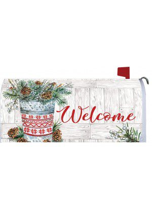 Winter Woodland Mailbox Cover | Mailbox Covers | Mailwrap | Mail Wraps