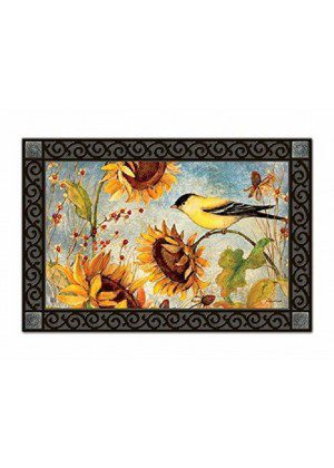 Yellow Finches Doormat | Doormats | MatMates | Decorative Doormats