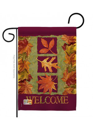 3 Fall Leaves Garden Flag | Fall Flags | Garden Flags | Welcome Flags