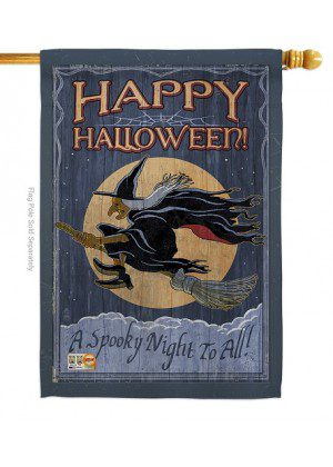 A Spooky Night House Flag | Halloween Flags | Two Sided Flag | Cool Flag