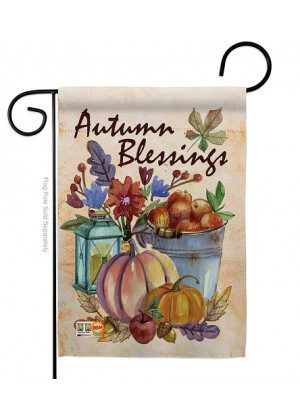 Autumn Blessings Garden Flag | Fall Flags | Garden Flags | Yard Flags