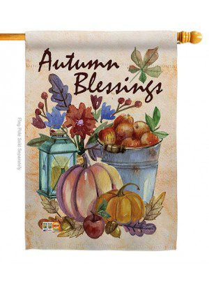 Autumn Blessings House Flag | Fall Flags | House Flags | Yard Flag | Flag