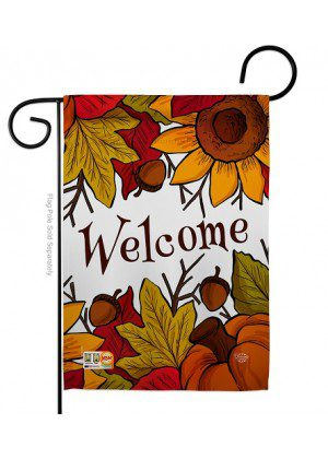 Autumn Welcome Garden Flag | Fall Flags | Garden Flag | Welcome Flag