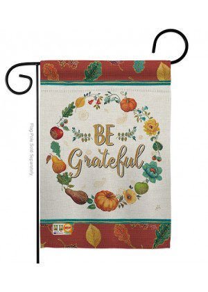 Be Grateful Garden Flag | Thanksgiving Flag | Yard Flag | Inspirational Flag