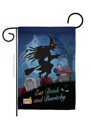 Bewitchy Garden Flag | Halloween Flag | Double Sided Flag | Garden Flag