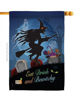 Bewitchy House Flag | Halloween Flags | Two Sided Flags | House Flags
