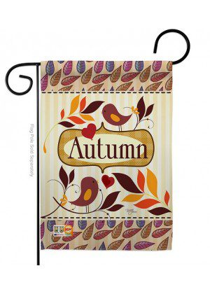 Birds Autumn Garden Flag | Fall Flags | Garden Flag | Bird Flag | Cool Flag