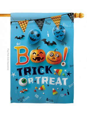 Boo Trick House Flag | Halloween Flags | House Flags | Yard Flags | Flags