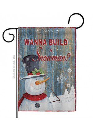 Build A Snowman Garden Flag | Winter Flags | Snowman Garden Flags