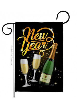 Cheers To Happy New Year Garden Flag | New Year's Flags | Garden Flag