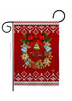 Gingerbread Wreath Garden Flag | Christmas Flags | Garden Flags | Flags