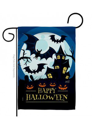 Halloween Night Aglow Garden Flag | Halloween Flags | Garden Flags