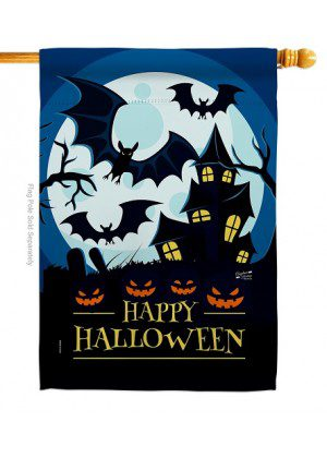 Halloween Night Aglow House Flag | Halloween Flags | House Flags | Flag