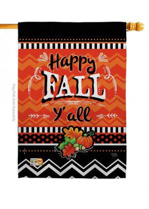 Happy Fall House Flag | Fall Flags | House Flags | Double Sided Flags