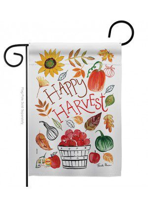 Happy Harvest Garden Flag | Fall Flags | Garden Flags | Yard Flags | Flags