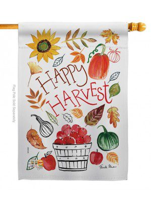 Happy Harvest House Flag | Fall Flags | Garden Flags | Yard Flags | Flags