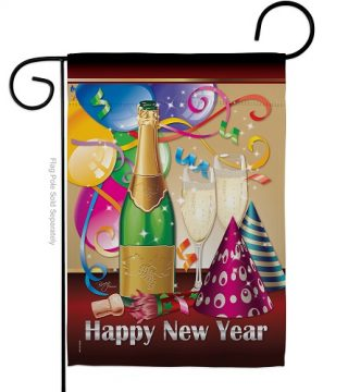 Happy New Year Garden Flag | New Year's Flags | Garden Flags | Flags