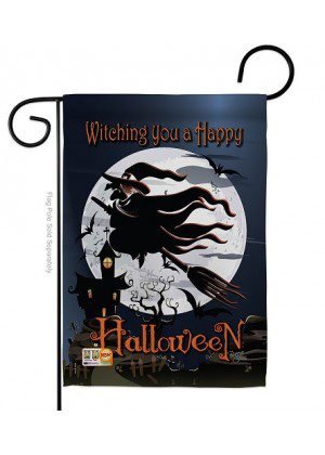 Happy Witching You Garden Flag | Halloween Flags | Double Sided Flags
