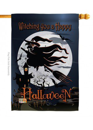 Happy Witching You House Flag | Halloween Flag | Yard Flag | House Flag