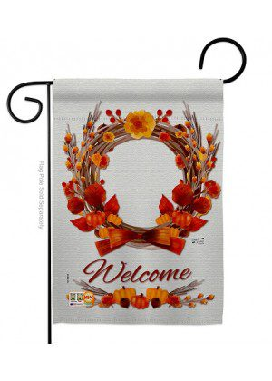 Harvest Wreath Garden Flag | Fall Flags | Garden Flags | Welcome Flags