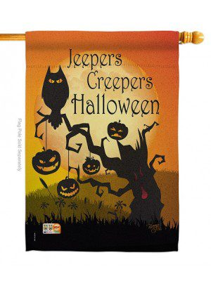 Jeepers Creepers House Flag | Halloween Flags | Double Sided Flags