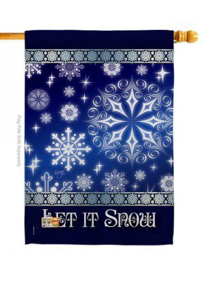 Let It Snow Dream House Flag | Winter Flags | House Flags | Yard Flags