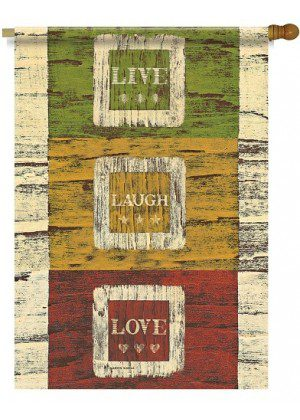 Live Laugh Love House Flag | Inspirational Flags | Two Sided Flags | Flags