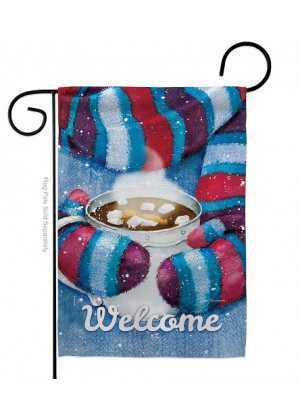 Mittens and Cocoa Garden Flag | Winter Flags | Yard Flag | Welcome Flags