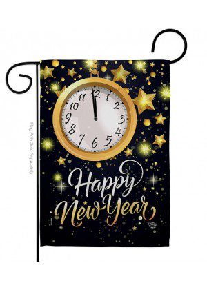 New Year Countdown Garden Flag | New Year's Flags | Garden Flag | Flag