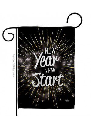 New Year New Start Garden Flag | New Year's Flags | Garden Flags | Flag