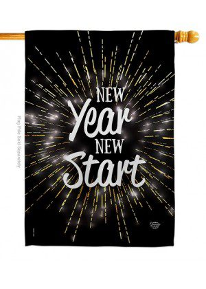 New Year New Start House Flag | New Year's Flags | House Flags | Flags