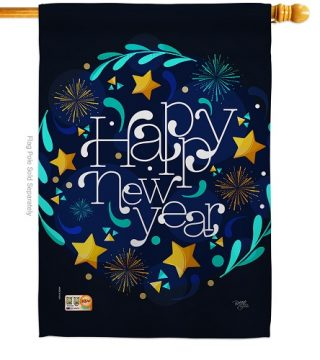 New Year Vibes House Flag | New Year's Flags | House Flags | Yard Flags