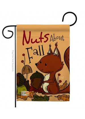 Nuts About Fall Garden Flag | Fall Flags | Garden Flags | Yard Flags | Flag