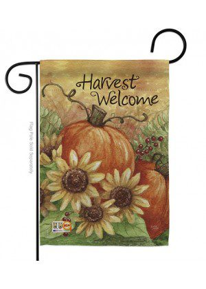 Pumpkin Sunflower Garden Flag | Fall Flags | Garden Flag | Welcome Flag