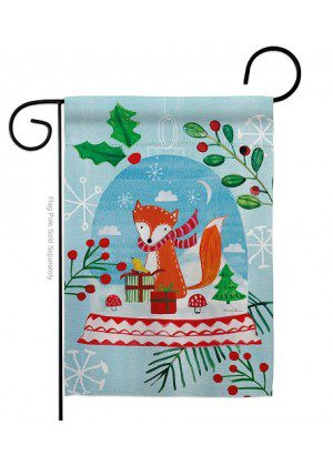 Snow Globe Fox Garden Flag | Winter Flag | Garden Flag | Christmas Flag