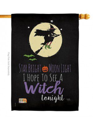Star Bright House Flag | Halloween Flags | Two Sided Flags | House Flags