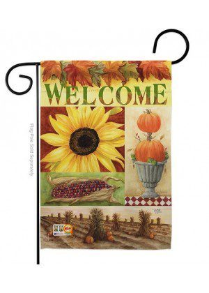 Sunflower Collage Garden Flag | Fall Flags | Yard Flags | Welcome Flags
