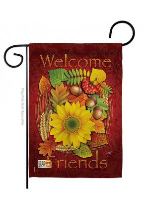 Welcome Friends Fall Garden Flag | Fall Flags | Yard Flag | Welcome Flag