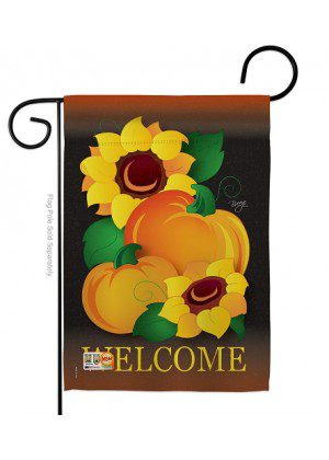 Welcome Pumpkin Garden Flag | Fall Flags | Garden Flags | Yard Flags
