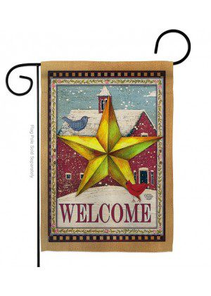 Welcome Winter Farm Garden Flag | Winter Flags | Welcome Flags | Flags
