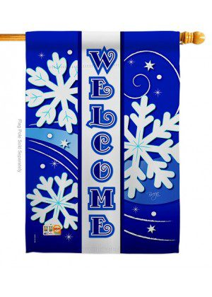 Welcome Winter House Flag | Winter Flags | House Flags | Welcome Flags