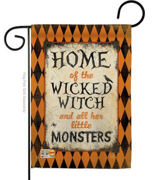 Wicked Home Garden Flag | Halloween Flags | Two Sided Flag | Yard Flag