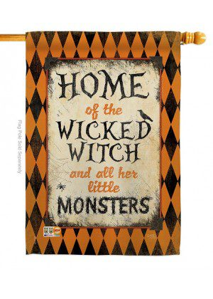 Wicked Home House Flag | Halloween Flags | Two Sided Flags | Yard Flag