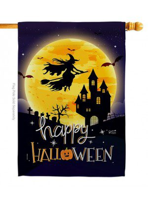 Witchy Halloween House Flag | Halloween Flags | House Flags | Yard Flag